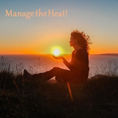 woman-holding-sun-manage-heat-hot-flashes