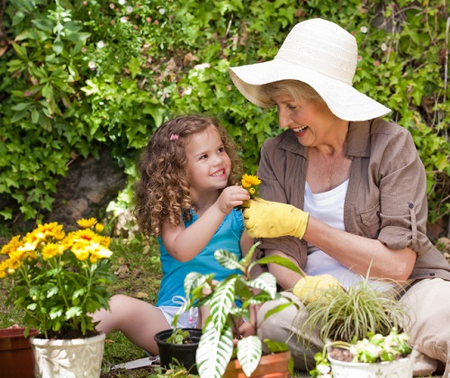 garden with your grandchildren